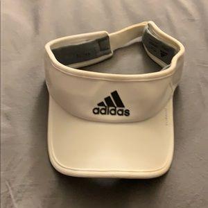 Men's White Adidas Visor